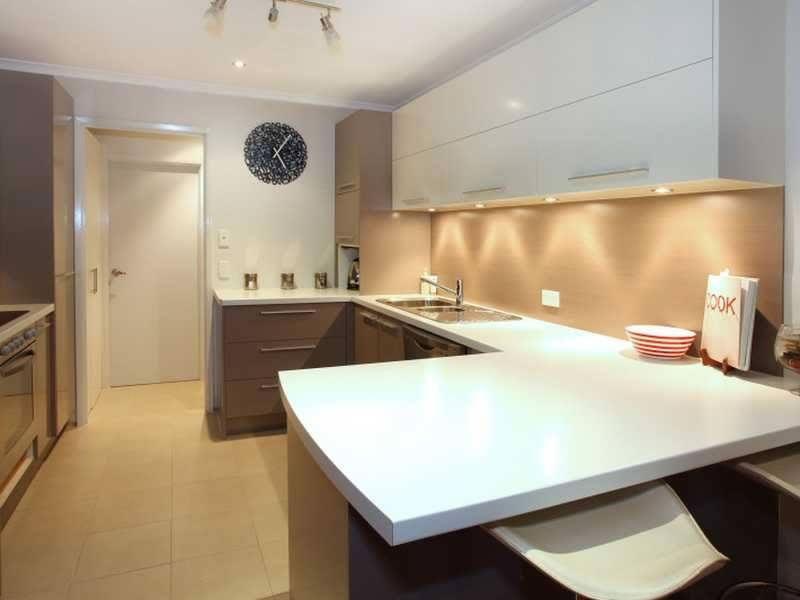 Grey and White Sleek Kitchen