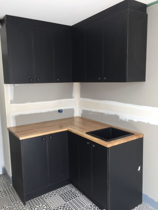Black Laundry with Timber top